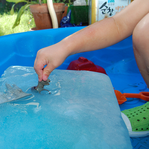 How-To: Excavating Dinosaurs-in-Ice Activity For Kids