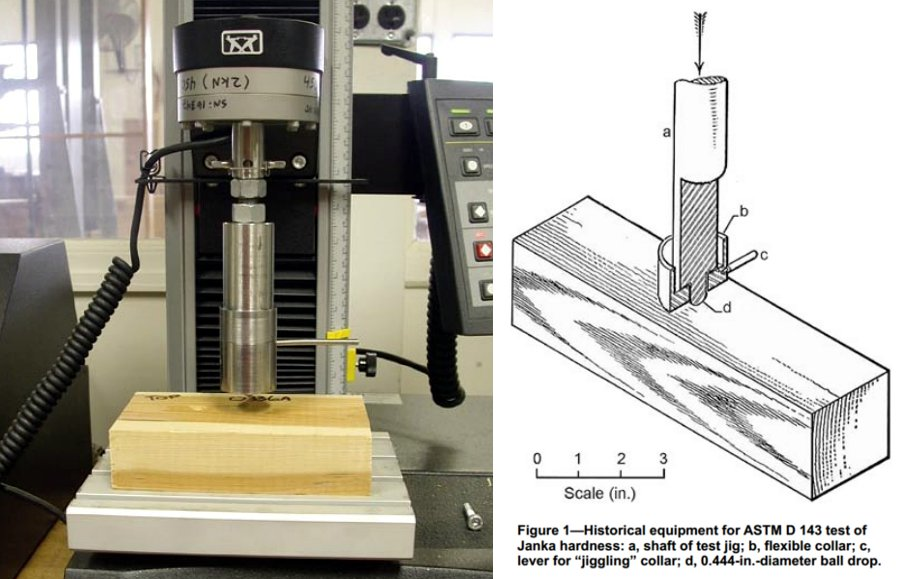 How Wood Hardness is Measured