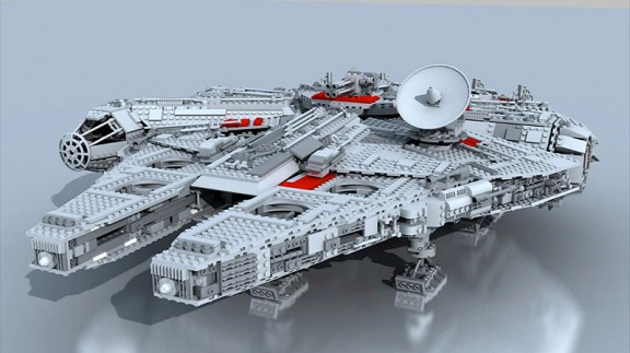 Lego Millennium Falcon, Rendered in 3DS Max