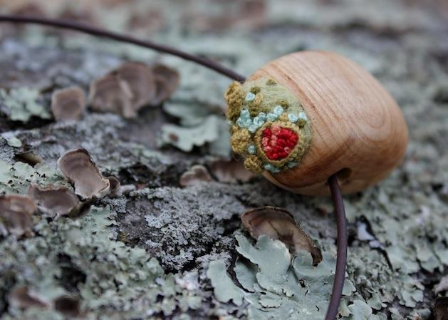 Wooden Lichen Garden Necklace