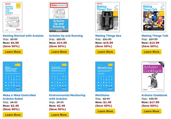 O'Reilly/MAKE Microcontroller Ebooks and Videos: 50% Off Through March 30