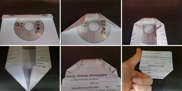 Origami CD Case