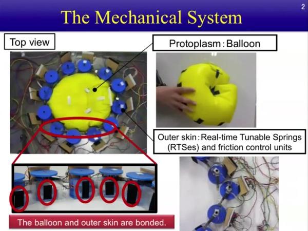 Amoeboid Robot Oozes Mechanically