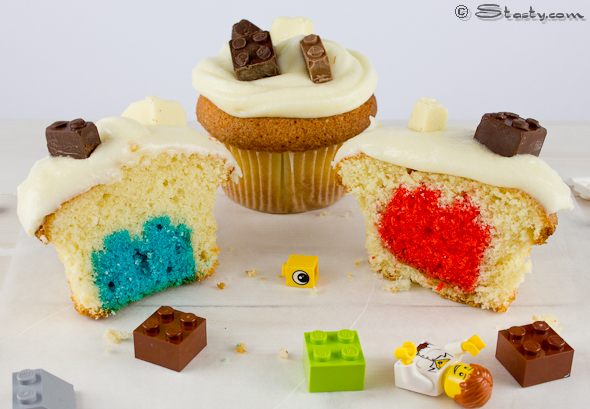 How-To: Double Lego Battenberg-Style Cupcakes