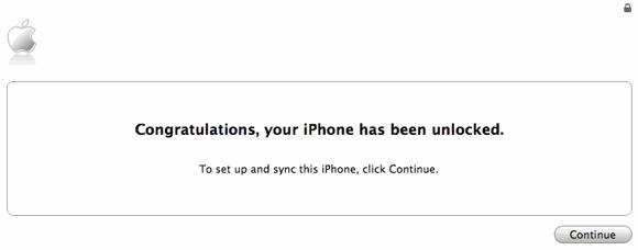 Congratulations, Your iPhone Has Been Unlocked