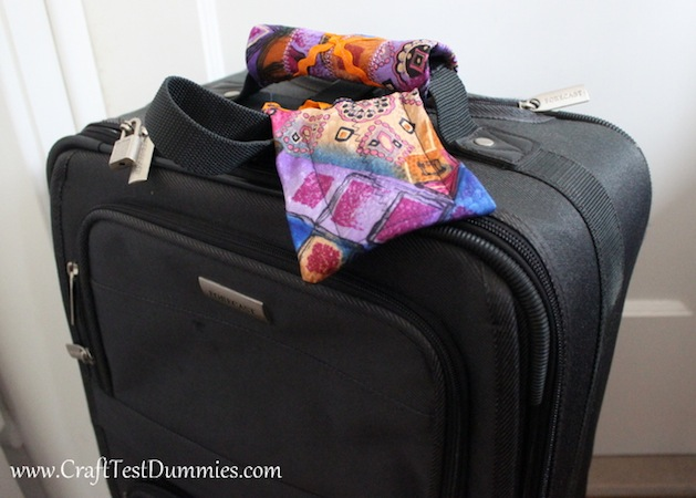 How-To: Recycled Necktie Luggage Tags