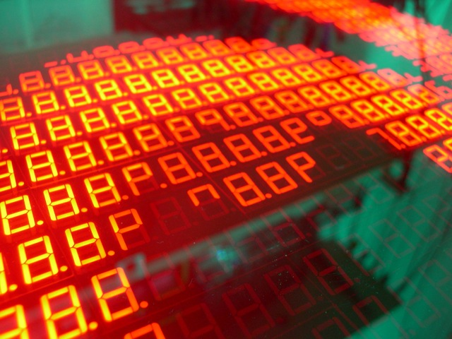 Animation from 517 Seven Segment Displays