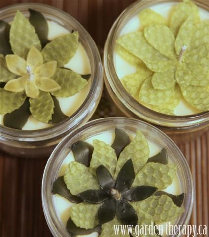 How-To: Beeswax Flower Mason Jar Candles