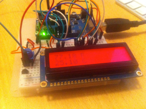 Arduino Ambient Temperature Display