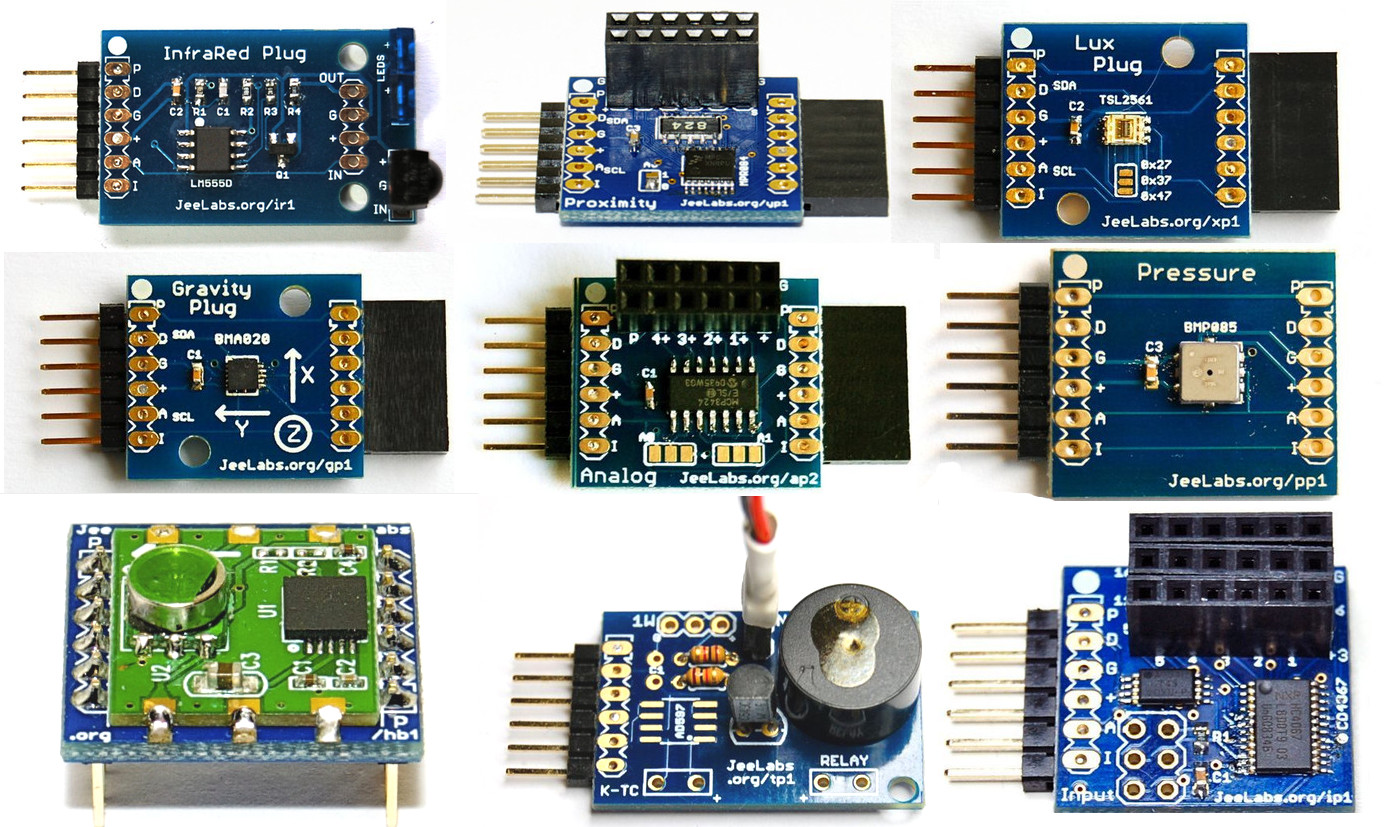 A collection of JeeLabs Sensors