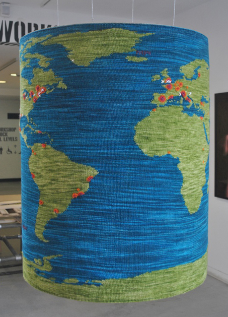 Knitted World Map