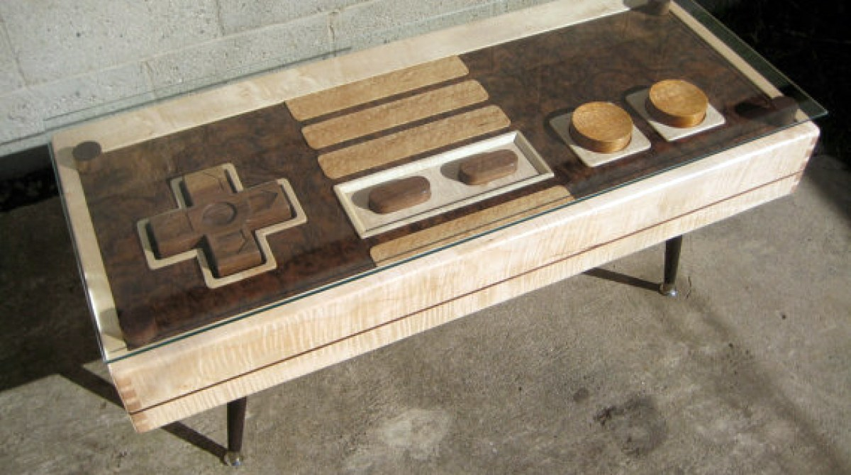 Fine Wood NES Controller Coffee Table Make