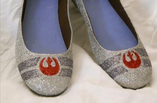 Rebel Alliance Glitter Ballet Flats
