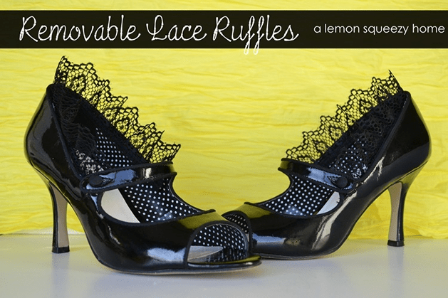 How-To: Removable Lace Ruffle Shoe Refashion