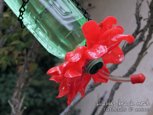 How-To: Recycled Spoon and Bottle Hummingbird Feeder