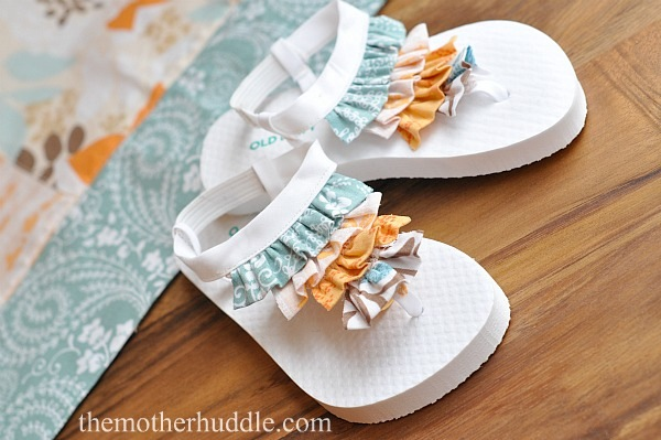 How-To: Soft Ruffle Flip Flops