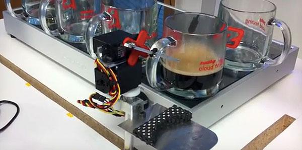Textable Robotic Espresso Machine