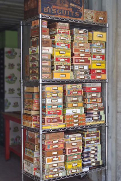 Cathe Holden's Vintage Cigar Box Collection