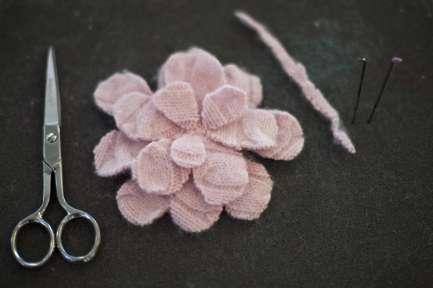 Project: Recycled Cashmere Flower