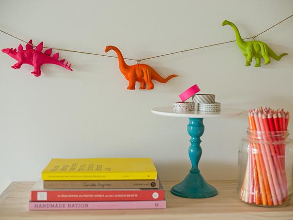 How-To: Neon Dinosaur Garland
