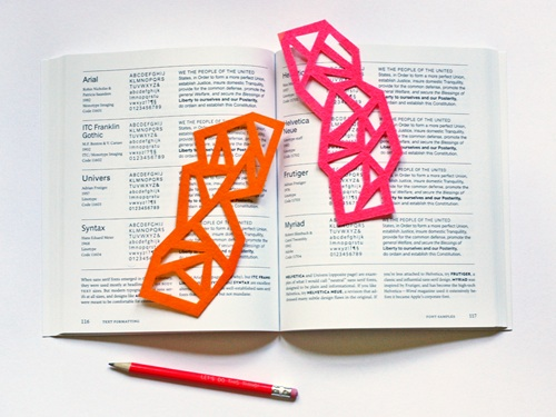 Geometric Felt Bookmarks