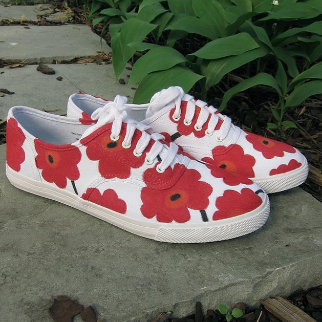 How-To: Marimekko-Inspired Sneakers