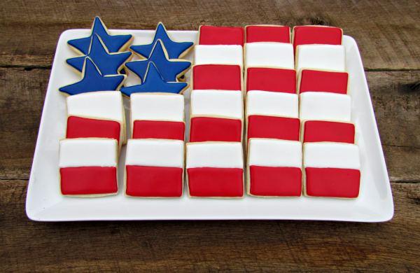 Memorial Day Flag Cookie Platter