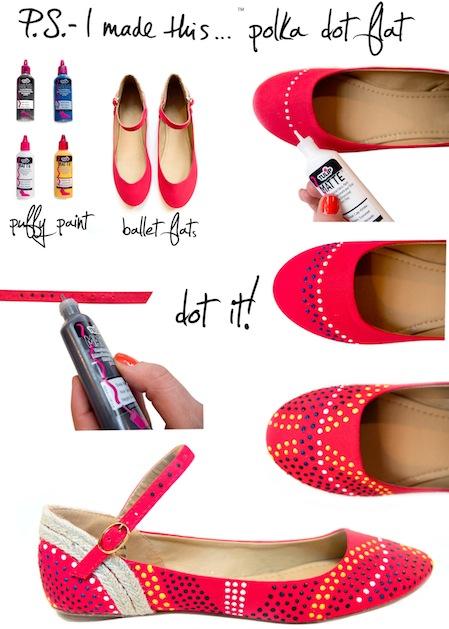 How-To: Polka Dot Flats