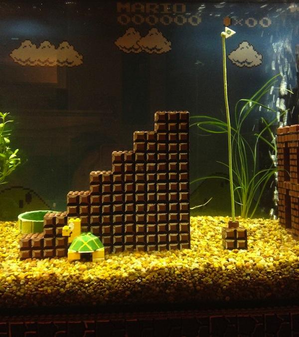 Lego Mario Bros Aquarium