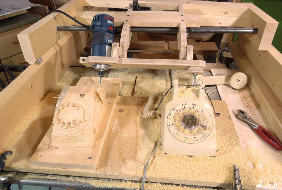 Copy Carving a Rotary Dial Telephone