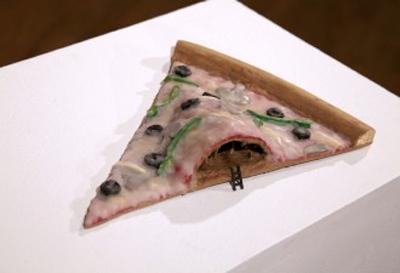 Surreal Vegan Pizza Sculpture