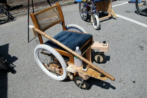 Reclaimed Bikes made into HandyChairs