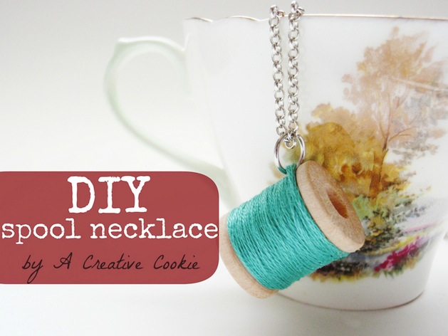 How-To: Simple Thread Spool Necklace