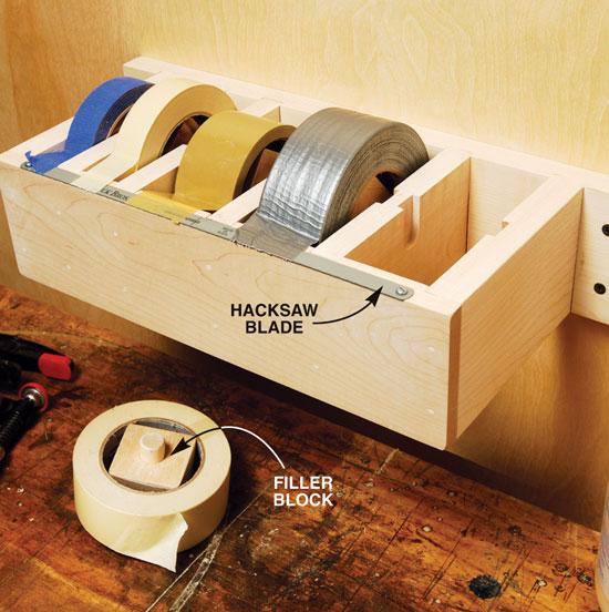 How-To: Wooden Multi-Roll Tape Dispenser