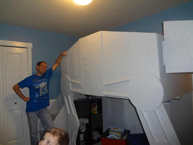 Father Makes Rad AT-AT Walker Bunk Bed For Son