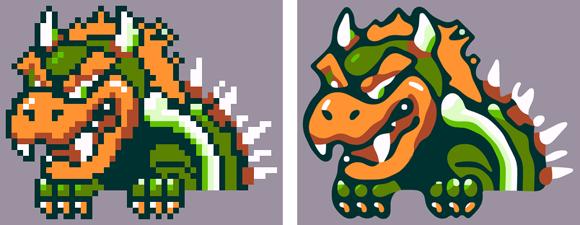 New Method for Vectorizing Pixel Art