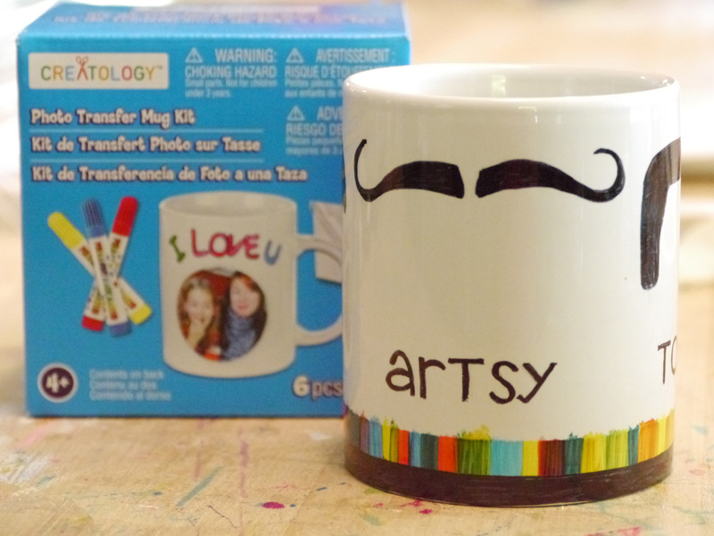 Painted Moustache Mug