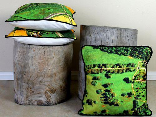 How-To: Google Maps Throw Cushion