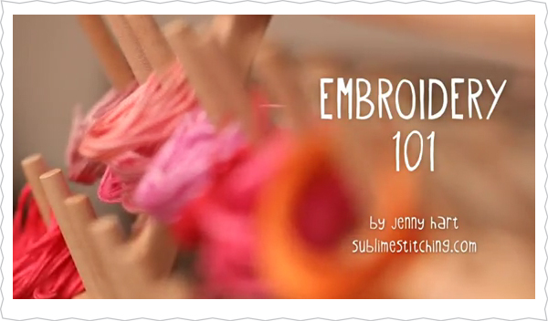 New How-To Embroidery Videos From Jenny Hart