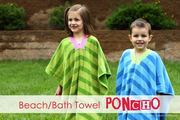 How-To: Beach Towel Poncho