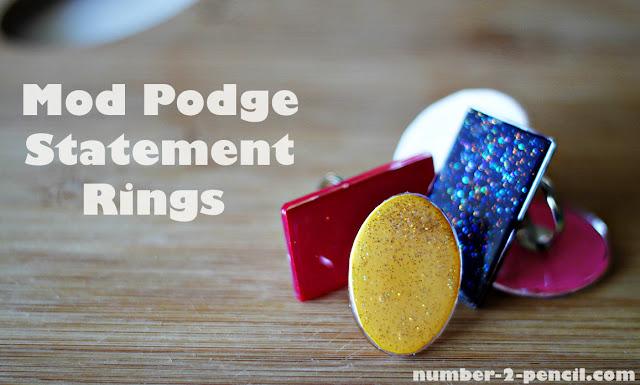 Mod Podge Statement Rings