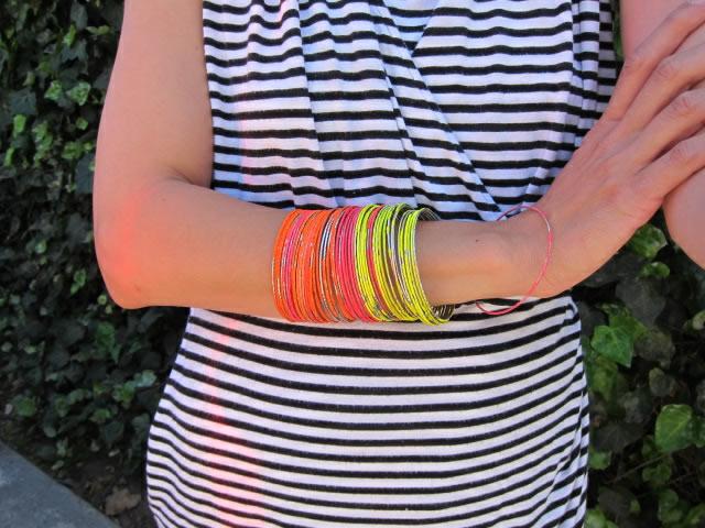 How-To: Neon Bangle Bracelets