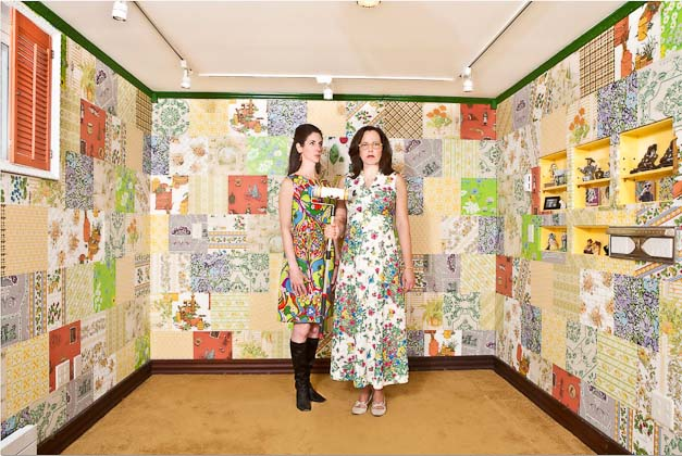 How-To: Vintage Wall Paper Crazy Quilt Decor