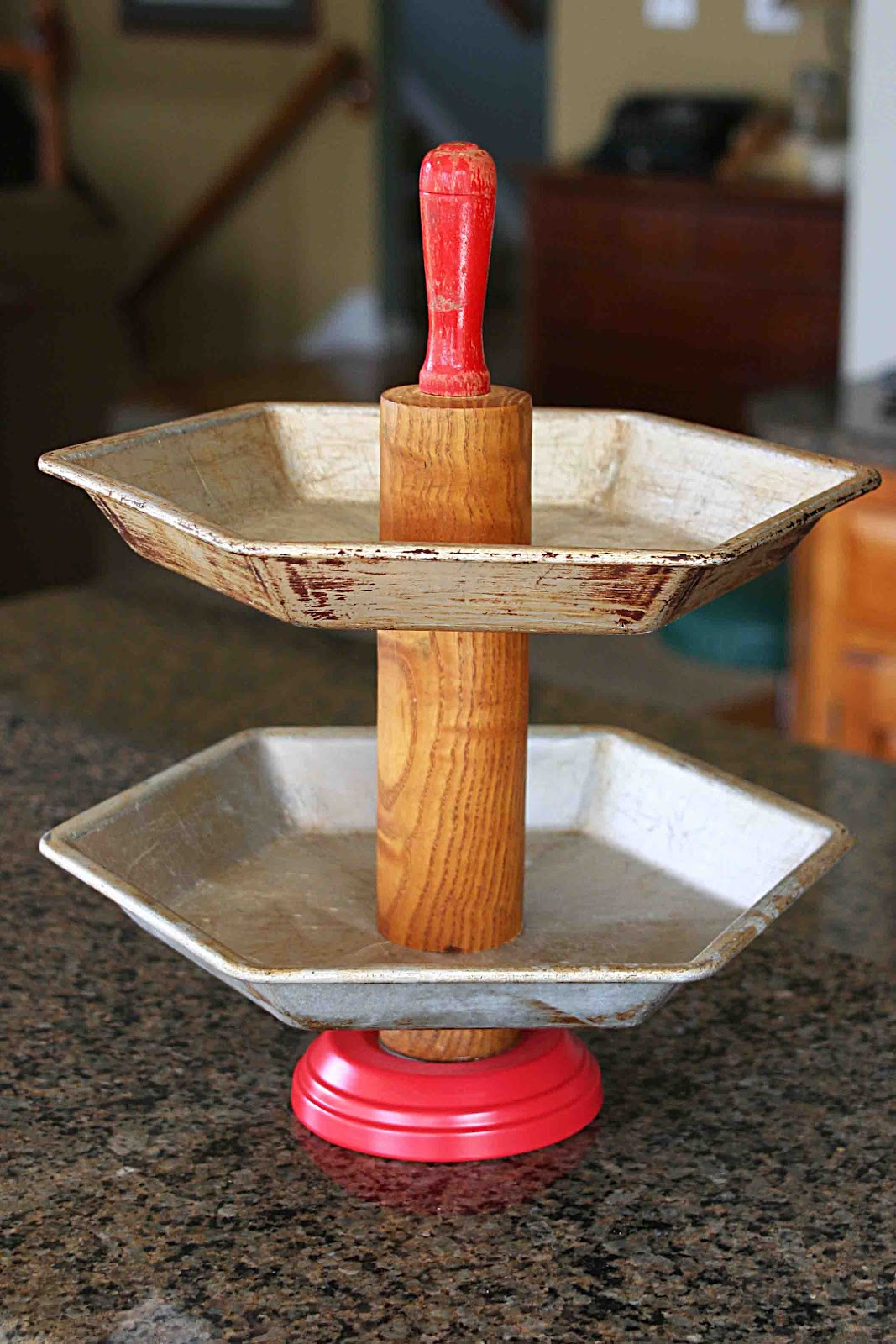 Tiered Pie Plate Stand