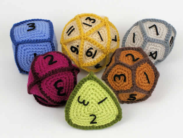 Set of Crochet Gaming Dice Patterns From Planet June