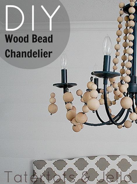 How-To: Wooden Bead Chandelier