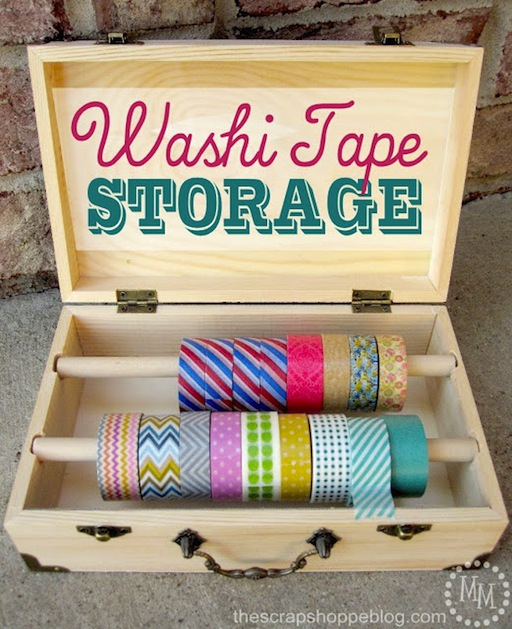 How-To: Washi Tape Storage Box