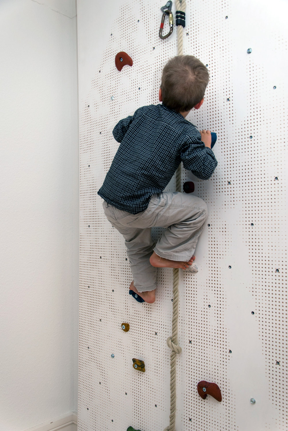 CNCed Child's Climbing Wall