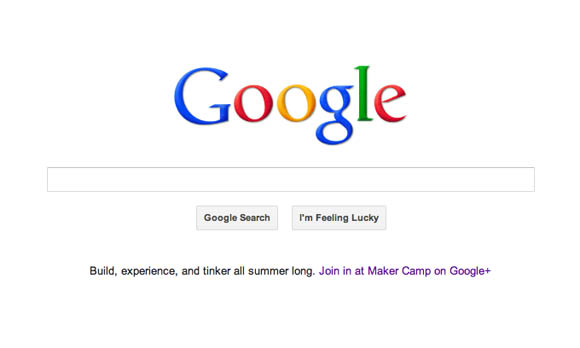 Maker Camp on the Google Homepage!