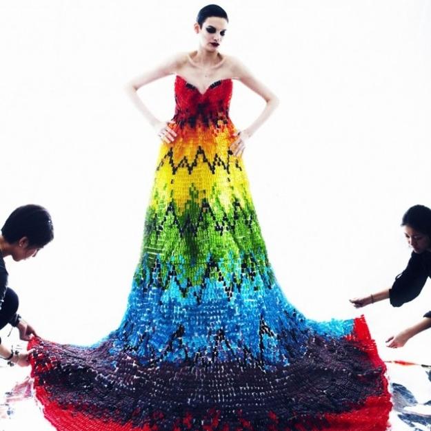 High-Fashion Dress in Gummy Bears